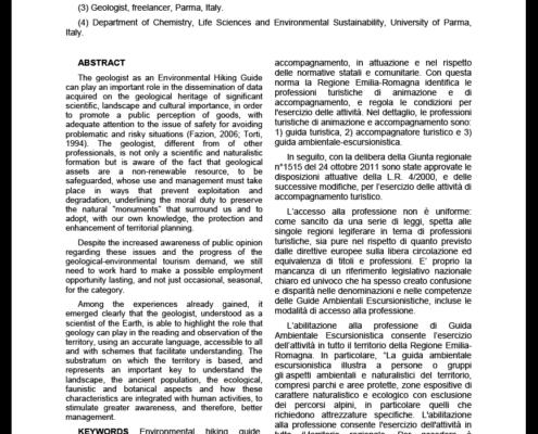 Stefano Segadelli Ruolo Geologo GAE
